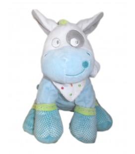 Peluche doudou vache bleue cheval poney 25 cm Mots d'Enfants 579/6753