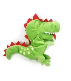 Doudou peluche marionnette dragon vert IKEA Laskig 28 cm