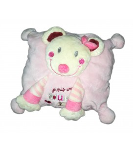 Doudou coussin rose Je suis une souris comme ça Nicotoy
