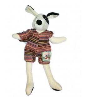 Doudou chien blanc La Grande Famille Moulin Roty 30 cm