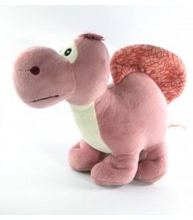 Doudou peluche dinosaure rose lilas 30 cm CIRCO