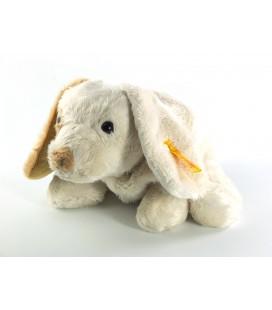 Doudou Peluche chien blanc crème beige Steiff 26 cm
