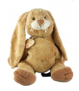 Trudi Bussi - Doudou peluche lapin beige doré marron 42 cm