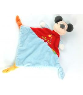 Doudou plat bleu rouge Mickey arrosoir radis Disney Nicotoy 587/0246