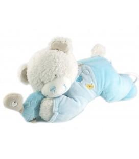 Doudou peluche musicale ours bleu tortue Tex Baby Carrefour CMI 30 cm