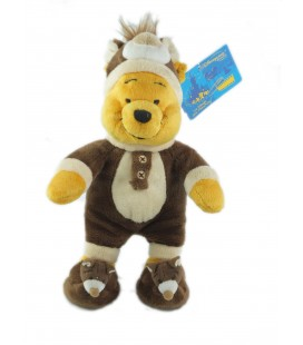 COLLECTOR - Peluche doudou Winnie l'Ourson The Pooh déguisé en ours - MP WN - H 26 cm - Disney Store Disneyland Paris