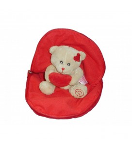 Doudou peluche ours dans coeur Gipsy I love You