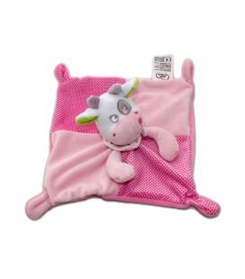 Doudou plat Vache rose - MOTS D'ENFANTS Siplec