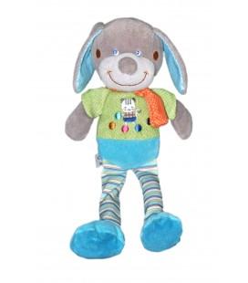 Mots d'enfants - Doudou Mots d'enfants chien vert bleu pois 30cm