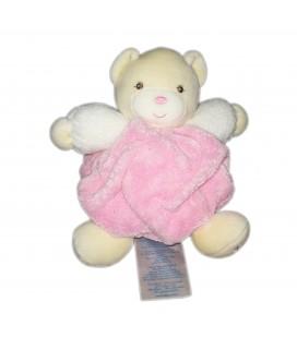 Doudou Ptit ours rose bonbon Kaloo plume 22 cm