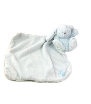 Doudou lapin bleu Tartine et Chocolat avec Mouchoir Couverture