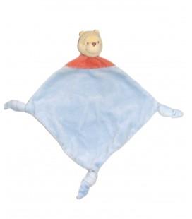 Doudou plat Winnie bleu rouge 3 Disney Baby
