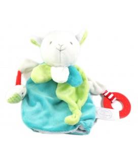 Doudou et Compagnie Mouton agneau magic bleu vert marionnette DC3005