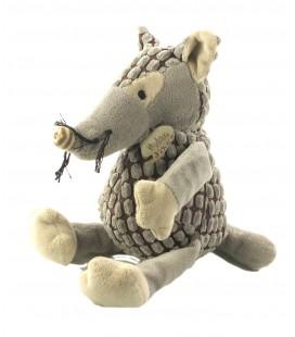 Peluche doudou Loup vagabon PM pantin 28 cm gris HO2068