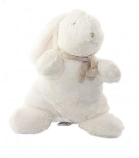 Doudou peluche lapin blanc beige taupe 30 cm TeddyKompaniet