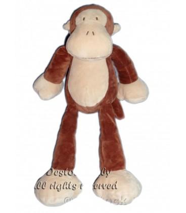 Doudou peluche singe marron beige Nicotoy 40 cm