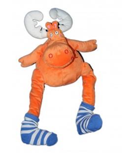 IKEA Peluche Renne orange Chaussette Barnslig alg Moose Reindeer avec étiquettes en tissu