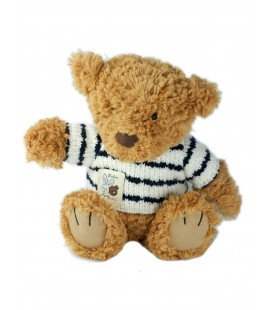 Doudou peluche ours marron marin Breton 32 cm Jellycat collection