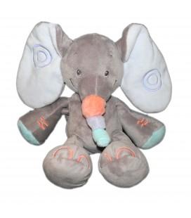 Doudou peluche Elephant gris bubble 30 cm Nattou