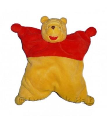 Doudou Winnie Disney Baby Nicotoy Semi plat Coussin Fleur rouge jaune