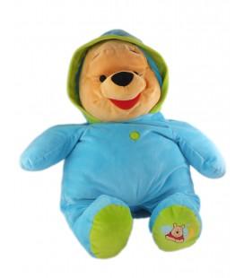Doudou peluche XXL 55 cm Winnie pyjama bleu capuche lune