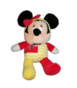 Peluche grand doudou Minnie Pyjama rouge jaune arbre 60 cm Disney Nicotoy 587/3207