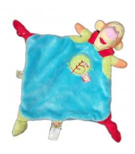 Doudou plat Tigrou Disney Baby Nicotoy Bleu 3 noeuds Etiquette Winnie 5870583