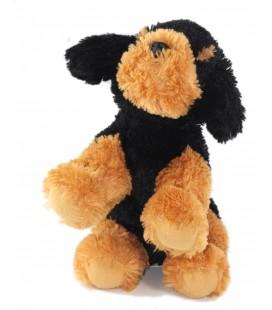 Peluche doudou chien chiot marron noir L 26 cm Max & Sax