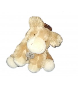Peluche doudou Ane cheval beige Histoire d'Ours assis 15 cm HO2327 Display Fermee
