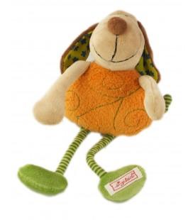 Doudou peluche musicale chien orange vert 26 cm SIGIKID