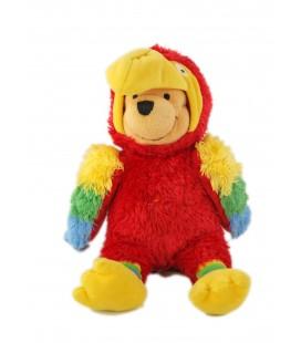 Collector - Peluche doudou winnie déguisé en perroquet 28 cm Parrot Pooh Disney Store