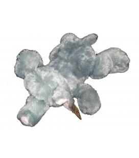 Peluche éléphant gris rose Max & Sax allongé 45 cm NEUF ETIQ