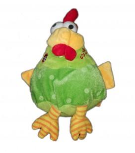 Doudou peluche Poule jaune vert Crazy CotCot FIZZY 20 cm Ne fonctionne plus