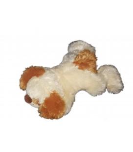 Peluche sonore chien qui aboie creme beige roux 36 cm Gispy