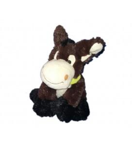 Peluche doudou cheval Poney marron brun 20 cm Fizzy