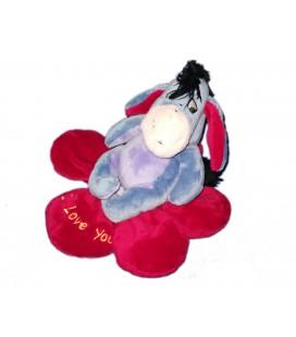 Peluche doudou Bourriquet Coeur fleur I love you 18 cm Disney Nicotoy 587/5012