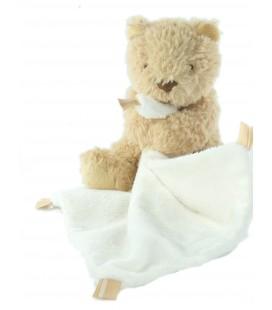 Peluche doudou Ours beige mouchoir blanc Little Jellycat 15 cm