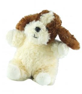 Peluche Histoire d'Ours doudou chien blanc marron 18 cm