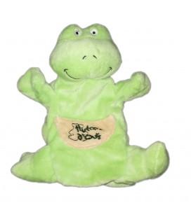 Peluche doudou marionnette grenouille verte Histoire d'Ours