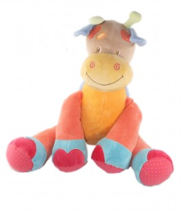 Peluche Grand modèle assis 42 cm Doudou Girafe Nattou Oasis