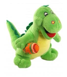 Peluche doudou Dinosaure Dragon vert 24 cm Fizzy