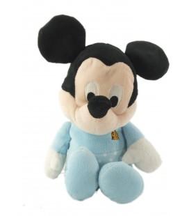 Peluche doudou Mickey bleu pois blancs coccinelle 28 cm Nicotoy Kiabi 587/9482