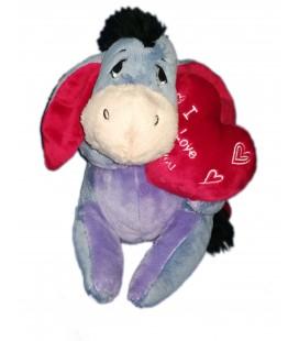 Peluche doudou Bourriquet Coeur I love you 22 cm Disney Nicotoy