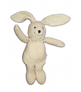 Doudou lapin beige blanc écru crème 22 cm Anna club Plush