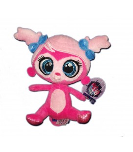 Peluche doudou Singe rose Minka Littlest Pet shop 18 cm