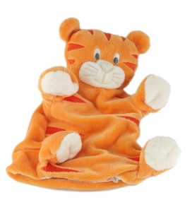 Doudou marionnette chat tigre orange Kimbaloo La Halle