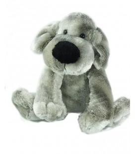 Peluche doudou chien gris argenté Golden Bear assis 18 cm