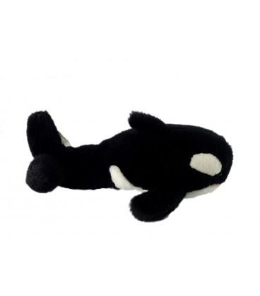 Peluche doudou orque blanc noir Althans Club 30 cm