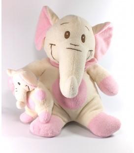 Peluche doudou Elephant blanc rose Althans Club 42 cm