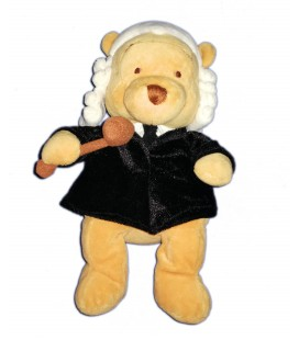 COLLECTOR Peluche Doudou Winnie l'Ourson English Lawyer Pooh Magistrat Avocat anglais 24 cm Disney Store